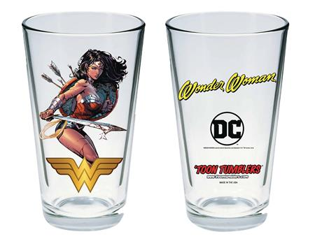 TOON TUMBLERS DC MODERN WONDER WOMAN PINT GLASS (C: 1-1-1)