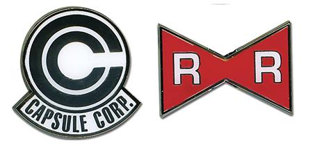 DBZ CAPSULE CORP & RED RIBBON ARMY PIN SET (C: 1-1-2)
