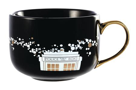 DOCTOR WHO BLACK & GOLD PINACHE LATTE MUG