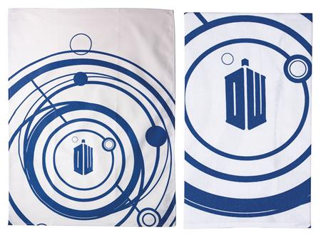 DOCTOR WHO LOGO DISH TOWEL 2PK SET