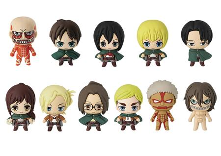ATTACK ON TITAN 3D FIGURAL KEYRING 24PC BMB DIS (C: 1-1-2)