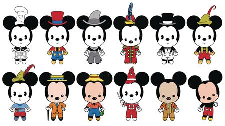 MICKEY THRU THE YEARS 3D FIGURAL KEYRING 24PC BMB DIS (C: 1-