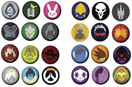 OVERWATCH 12PK MINI BUTTON SET DIS (C: 1-1-2)