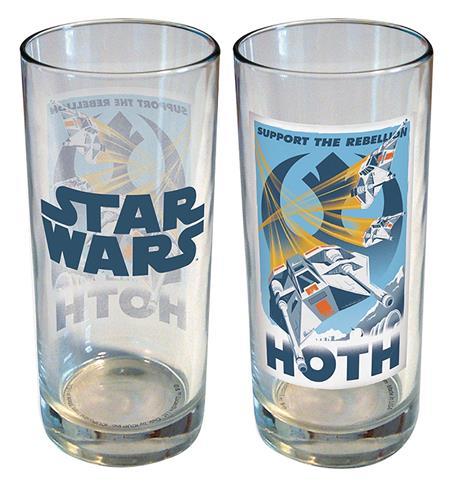 STAR WARS RETRO ROAD TRIP HOTH 15OZ GLASS (C: 1-1-2)