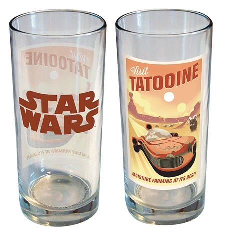 STAR WARS RETRO ROAD TRIP TATOOINE 15OZ GLASS (C: 1-1-2)