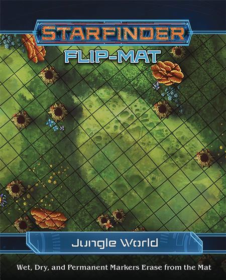 STARFINDER RPG FLIP MAT JUNGLE WORLD (C: 0-0-1)