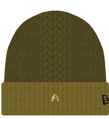 AQUAMAN MOVIE NEW OLIVE CUFF KNIT CAP (C: 1-1-2)