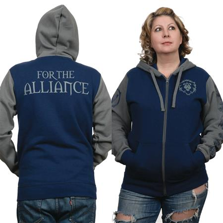 WOW BATTLE FOR AZEROTH ALLIANCE PRIDE HOODIE LG (C: 1-1-2)