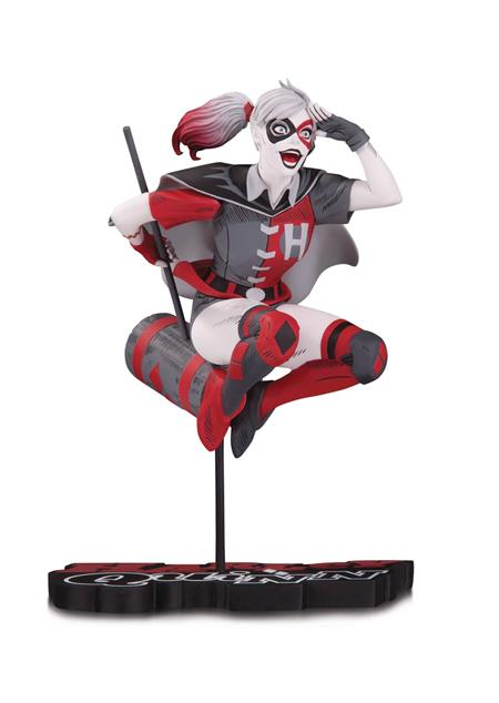 HARLEY QUINN RED WHITE & BLACK STATUE BY GUILLEM MARCH