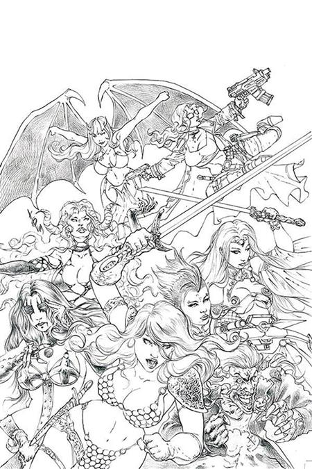 RED SONJA AGE OF CHAOS #1 50 COPY QUAH SKETCH VIRGIN INCV