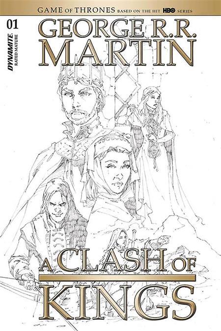 GEORGE RR MARTIN A CLASH OF KINGS #1 20 COPY RUBI B&W INCV (