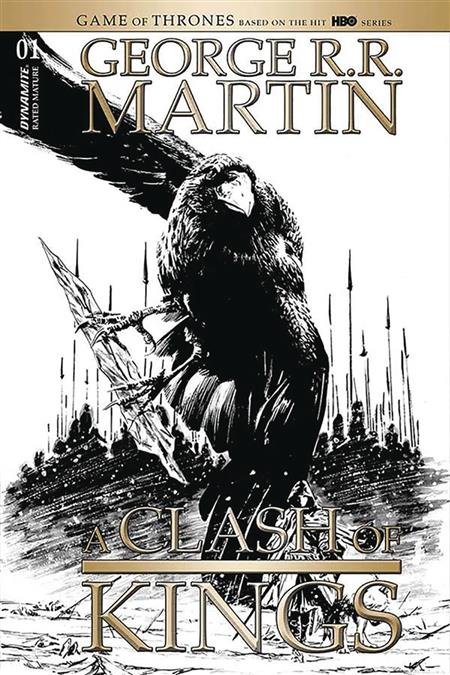GEORGE RR MARTIN A CLASH OF KINGS #1 50 COPY GUICE B&W INCV