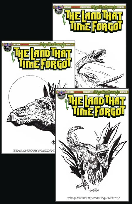 LAND THAT TIME FORGOT #1 FEAR ON FOUR WORLDS DINO SKETCH CVR