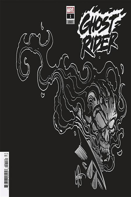 DF GHOST RIDER #1 SGN SILVER SKETCH HAESER