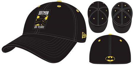 DC BATMAN 80TH ANNIVERSARY LOGO PX FLEXFIT CAP (C: 1-1-1)