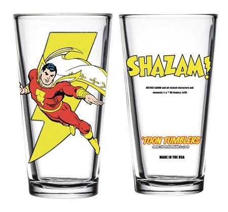 TOON TUMBLERS DC SHAZAM PINT GLASS (C: 1-1-1)