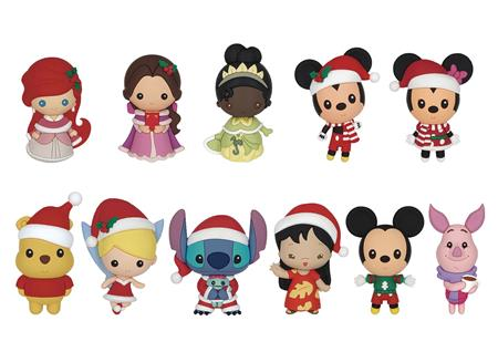 DISNEY CHRISTMAS 3D FOAM BAG CLIP 24PCS BMB DS (C: 1-1-2)