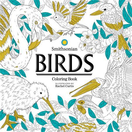 BIRDS SMITHSONIAN COLORING BOOK (C: 0-1-0)