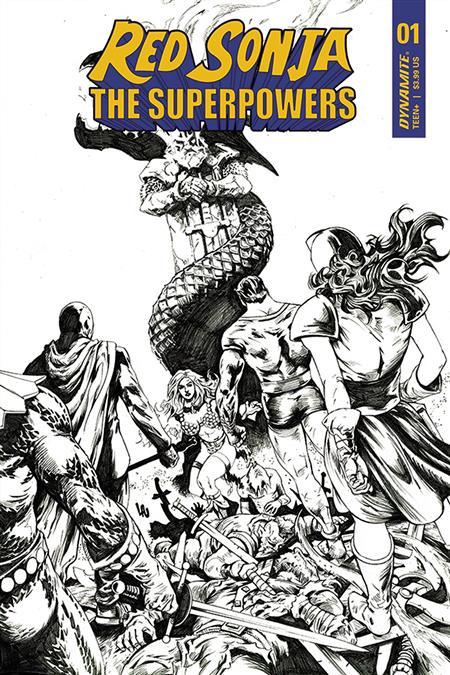 RED SONJA THE SUPERPOWERS #1 15 COPY LAU B&W INCV