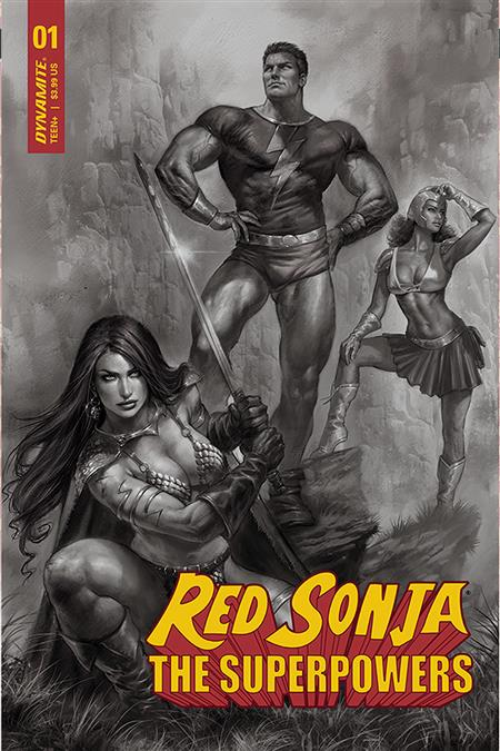 RED SONJA THE SUPERPOWERS #1 15 COPY PARRILLO B&W INCV