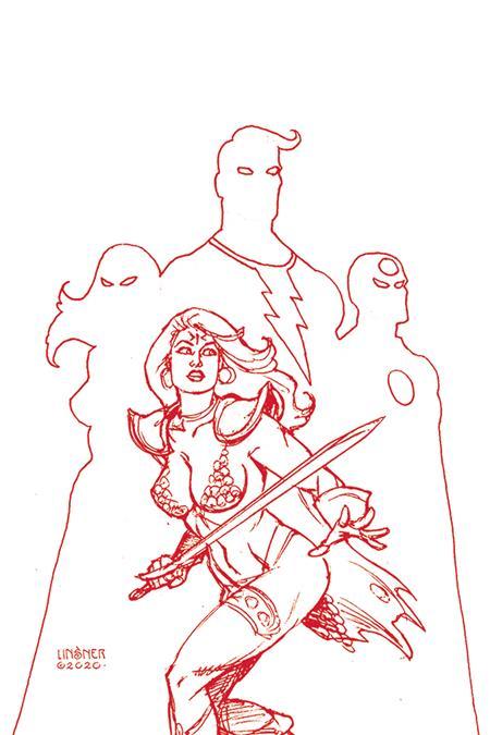 RED SONJA THE SUPERPOWERS #1 LINSNER CRIMSON RED ART VIRGIN