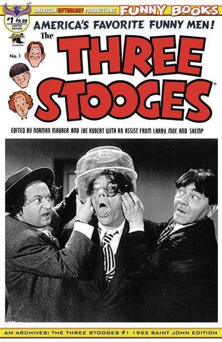 AM ARCHIVES THREE STOOGES #1 1953 LTD ED B&W PHOTO CVR
