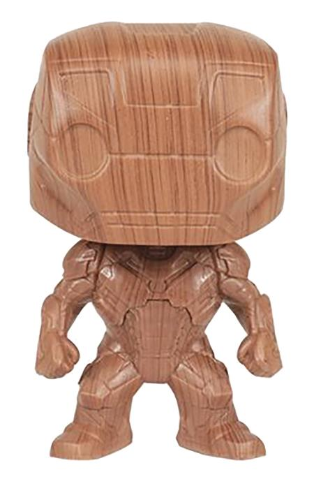 POP IRON MAN WOOD DECO VINYL FIG (Net) (C: 1-1-0)