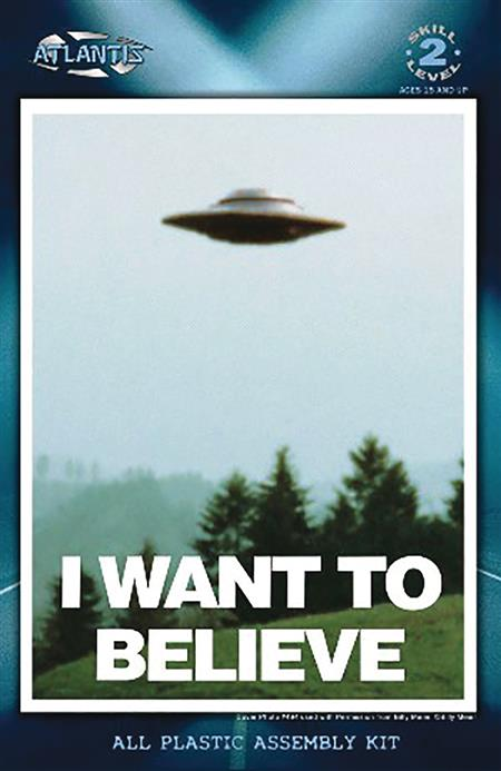 X-FILES I WANT TO BELIEVE 5IN UFO W/LED MODEL KIT (C: 1-1-2)