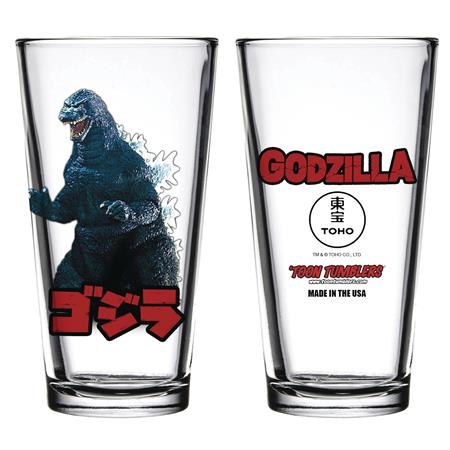 TOON TUMBLERS GODZILLA FIGURE PINT GLASS (C: 1-1-1)