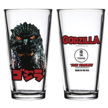 TOON TUMBLERS GODZILLA HEAD PINT GLASS (C: 1-1-1)