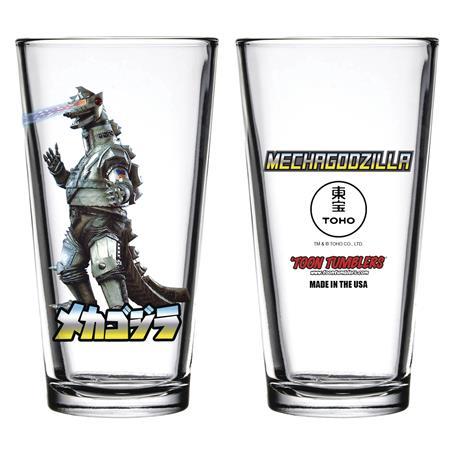 TOON TUMBLERS GODZILLA MECHAGODZILLA PINT GLASS (C: 1-1-1)