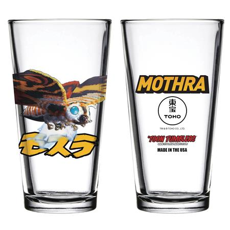 TOON TUMBLERS GODZILLA MOTHRA PINT GLASS (C: 1-1-1)