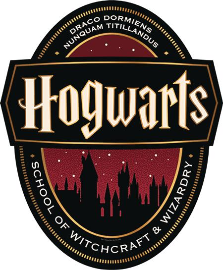 HARRY POTTER WELCOME TO HOGWARTS WOOD SIGN (C: 1-1-2)