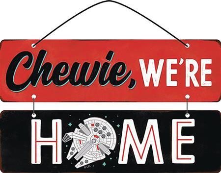 STAR WARS CHEWIE WERE HOME LINKED METAL SIGN (C: 1-1-2)