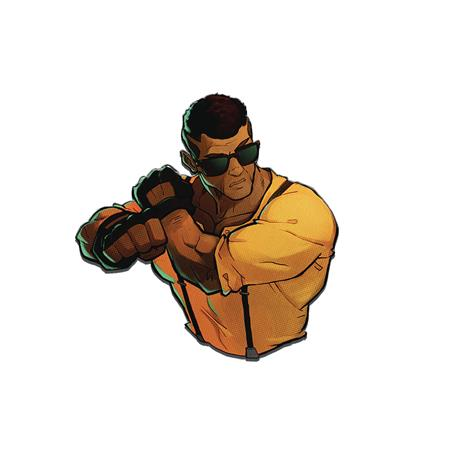 STREETS OF RAGE 4 ADAM HUNTER LUXURY ENAMEL ICON PIN (C: 0-1