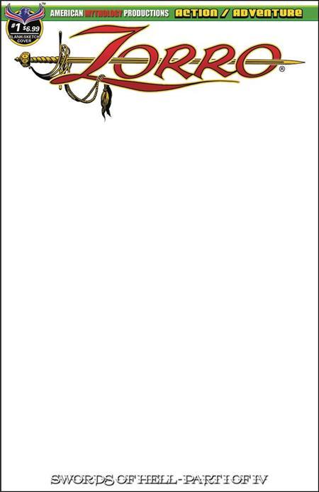 ZORRO SWORDS OF HELL #1 BLANK SKETCH CVR