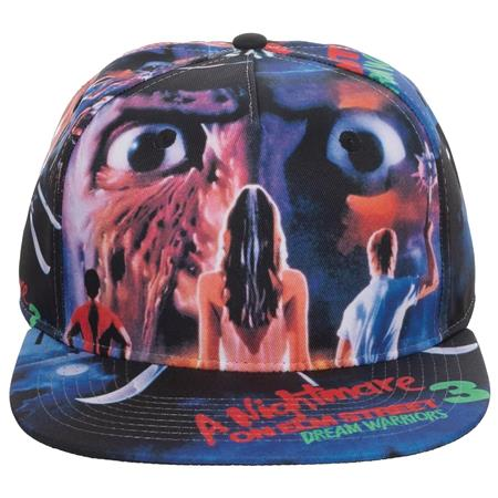 A NIGHTMARE ON ELM STREET DREAM WARRIORS POSTER SNAPBACK (C:
