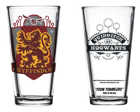 TOON TUMBLERS HARRY POTTER QUIDDITCH GRYFFINDOR GLASS (C: 1-