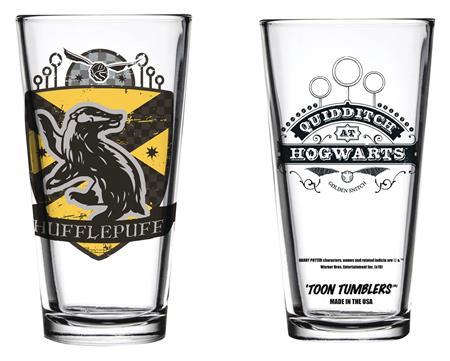 TOON TUMBLERS HARRY POTTER QUIDDITCH HUFFLEPUFF GLASS (C: 1-