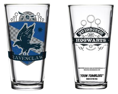 TOON TUMBLERS HARRY POTTER QUIDDITCH RAVENCLAW GLASS (C: 1-1