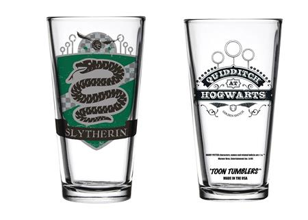 TOON TUMBLERS HARRY POTTER QUIDDITCH SLYTHERIN GLASS (C: 1-1