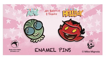 HELLBOY ITTY BITTY HELLBOY & ABE LTD ED ENAMEL PIN 6PC ASST