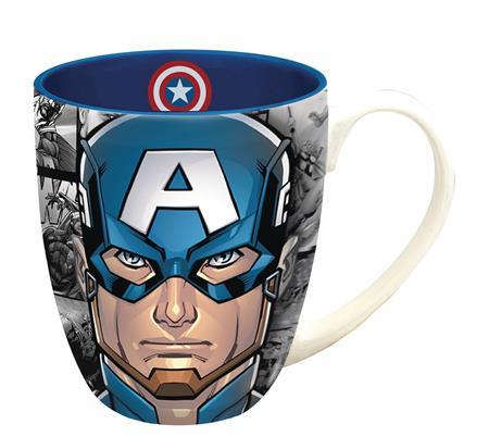 MARVEL HEROES CAPTAIN AMERICA FACE MUG (C: 1-1-2)