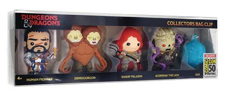 DUNGEONS & DRAGONS CON EXCLUSIVE 3D FOAM BAG CLIP 5PC SET (N