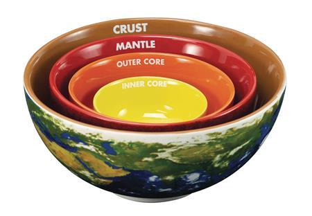 EARTH CROSS SECTION NESTING BOWL SET (C: 1-1-1)