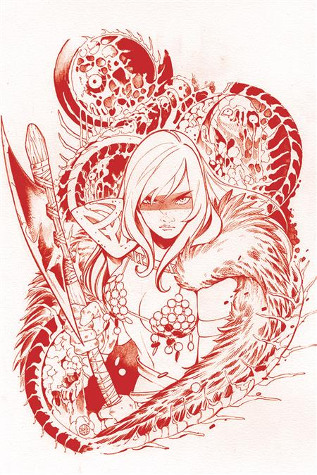DIE!NAMITE #1 MOMOKO SONJA FIREY RED LINE ART VIRGIN CVR
