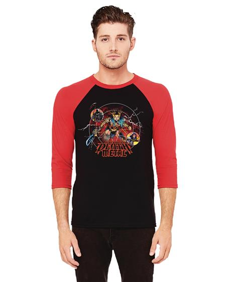 DARK NIGHTS DEATH METAL BASEBALL SHIRT LG (C: 0-1-1)