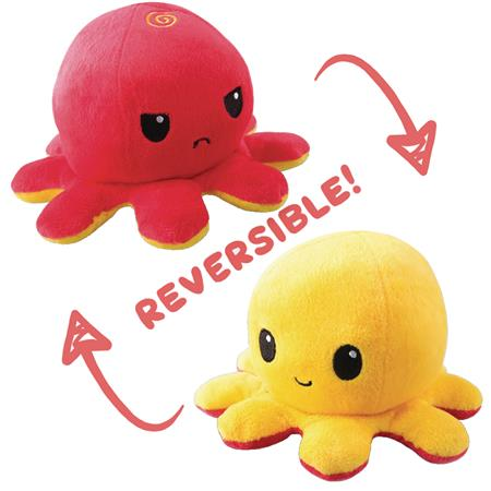 TEETURTLE REVERSIBLE OCTOPUS MINI RED TO YELLOW PLUSH (C: 1-