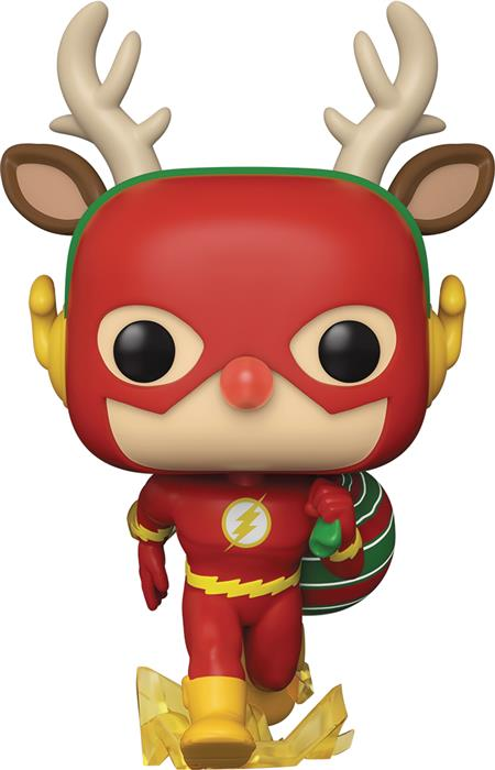 POP HEROES DC HOLIDAY RUDOLPH FLASH VIN FIG (C: 1-1-2)