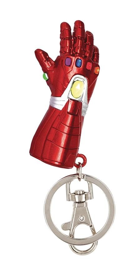 MARVEL AVENGERS IRON MAN NANO GAUNTLET PEWTER KEY RING (C: 1